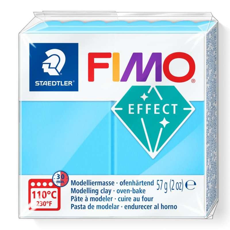 Cietējoša modelēšanas masa FIMO EFFECT, 57g, Neon zila