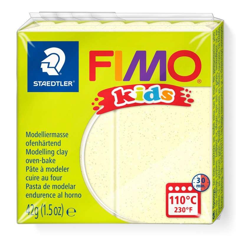 Полимерная глина FIMO KIDS, перламутровый желтый