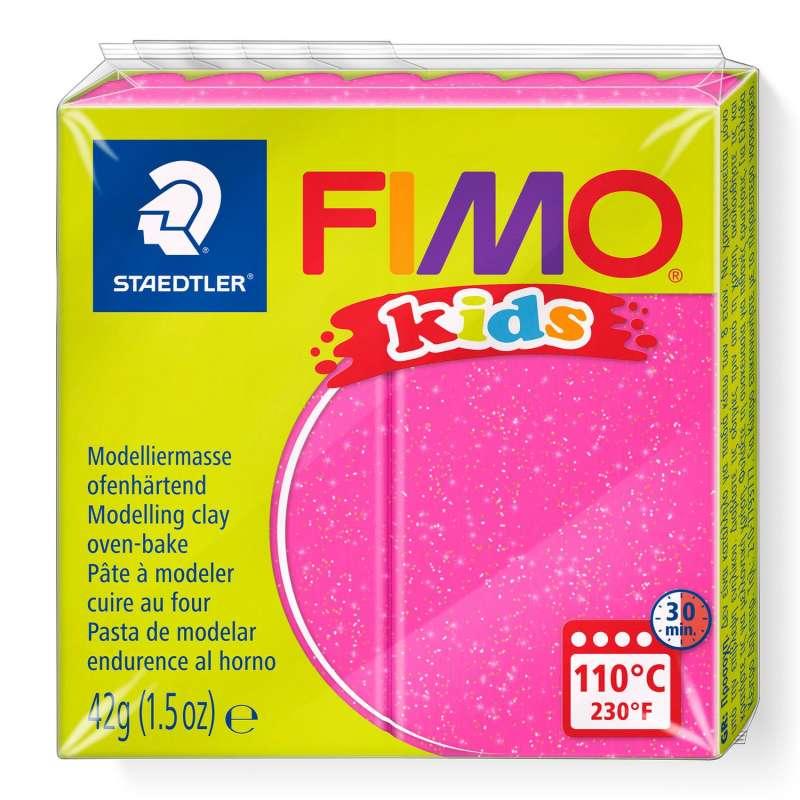 Полимерная глина FIMO KIDS, розовый с глиттером