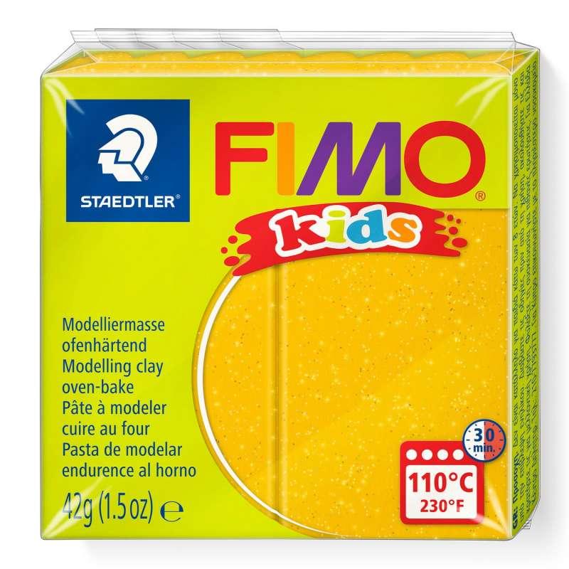 Полимерная глина FIMO KIDS, желтый с глиттером