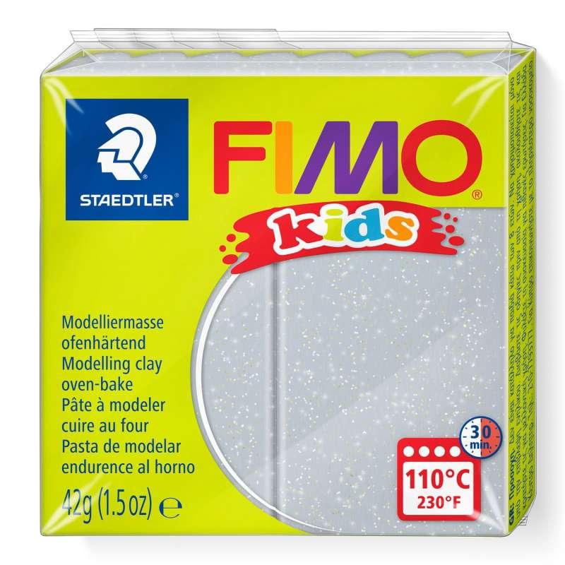 Полимерная глина FIMO KIDS, серый с глиттером