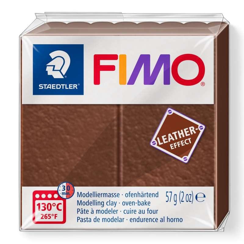 Cietējoša modelēšanas masa FIMO,ādas efekts,brūns
