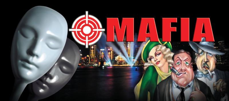 Настольная игра Мафия (пластиковые маски 10шт.+карты)