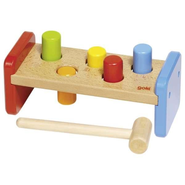 Развивающая игрушка Молоток GOKI, 7 частей