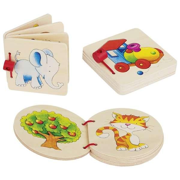 Развивающая игрушка GOKI - Деревянная книжка