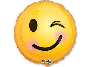 Фольгированный шар 43cm Smile emoticon