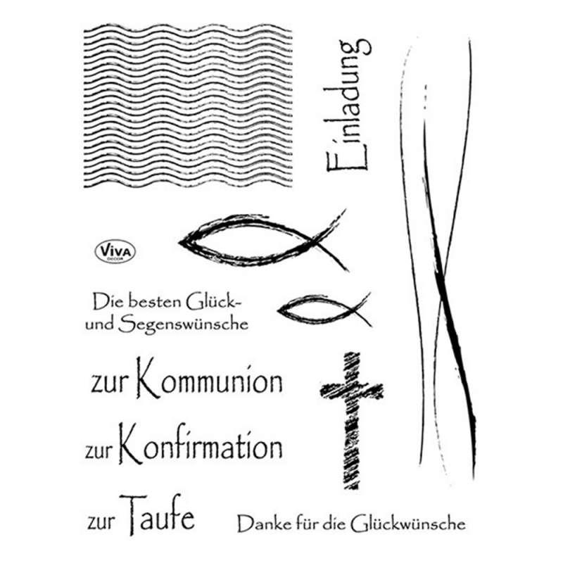 Набор силиконовых штампов VIVA - Христианские обряды