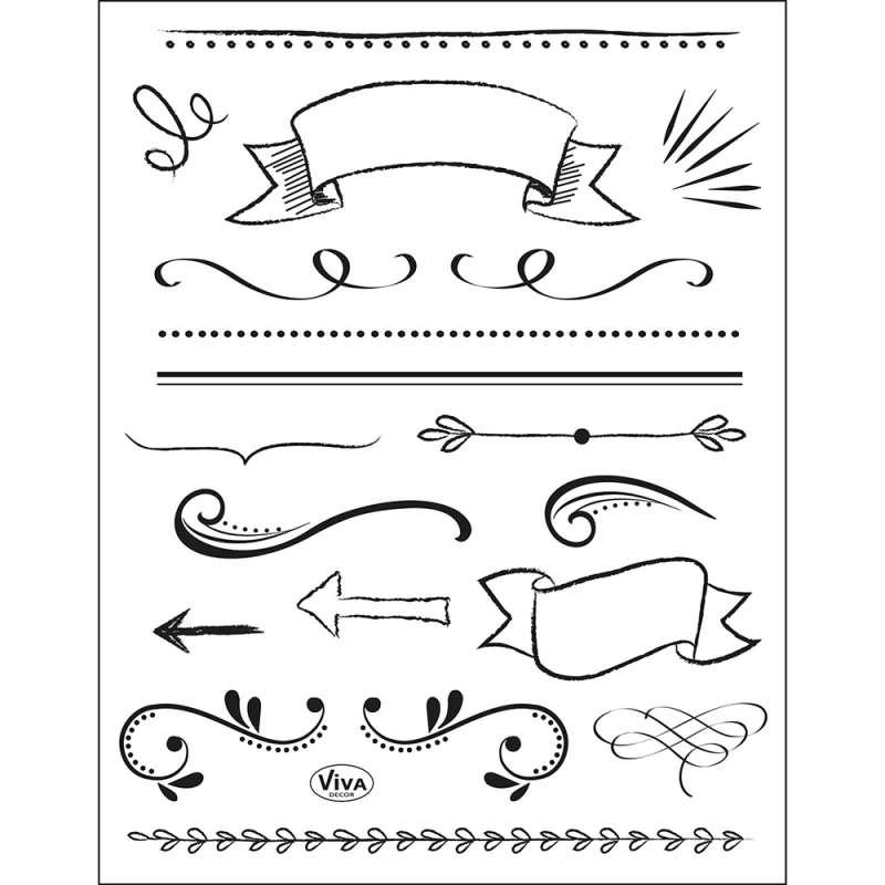 Silikona zīmogi dekoram VIVA