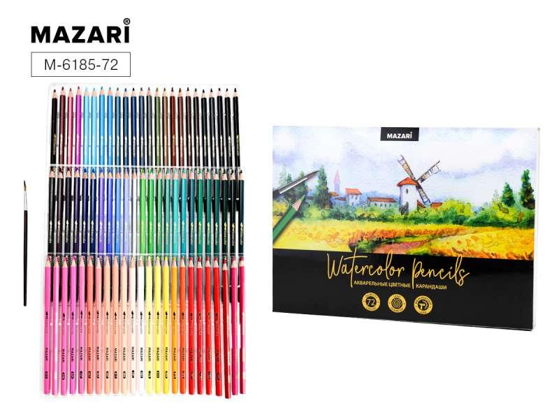 Карандаши акварельные 72 цвета