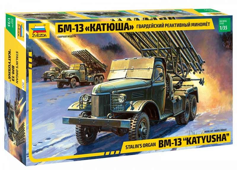 Saliekamais modelis - Aizsargu raķešu palaišanas iekārta BM-13 Katyusha