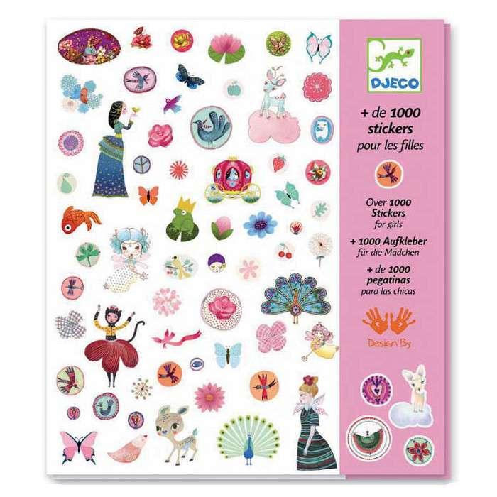 Набор наклеек для девочек (1000 штук)