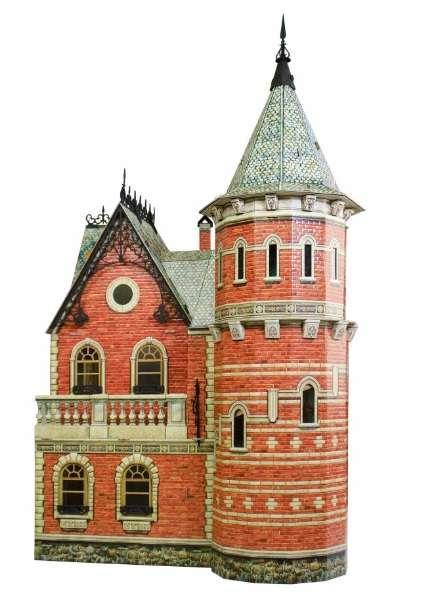 Сборная модель из бумаги - Кукольный дом-3