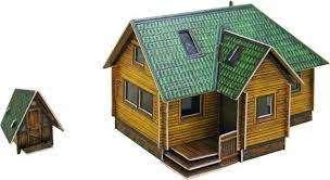 Сборная модель из бумаги - Дачный домик