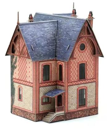 Сборная модель из бумаги - Вилла в Везине Франция