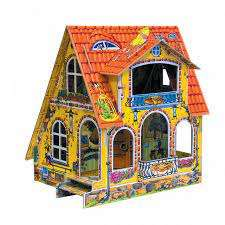 Сборная модель из бумаги - Фазенда (сборный домик с героями)