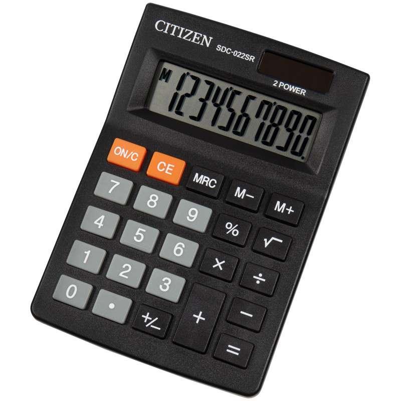 Kalkulators 10-zim. CITIZEN SDC-022SR, 87x127x23 mm