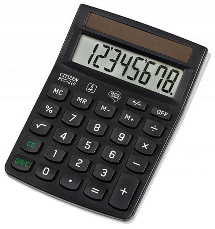 Kalkulators 8-zim. ECO ECC-210,143x102x30 mm.