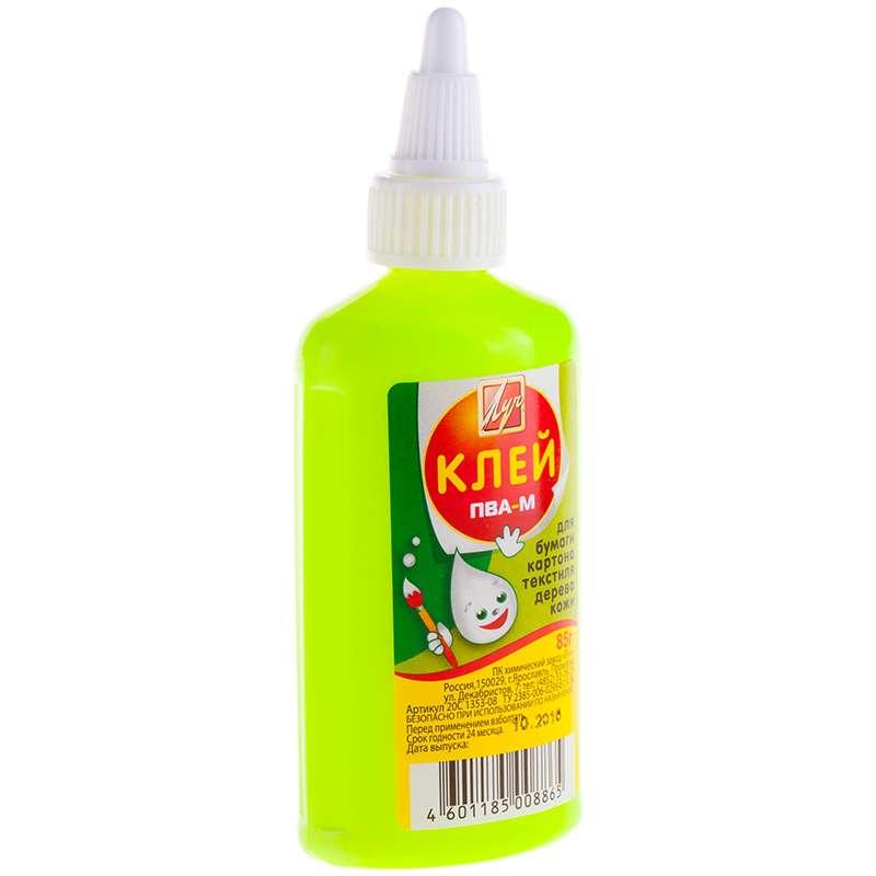 Клей ПВА ЛУЧ 85г (желтая бутылка)