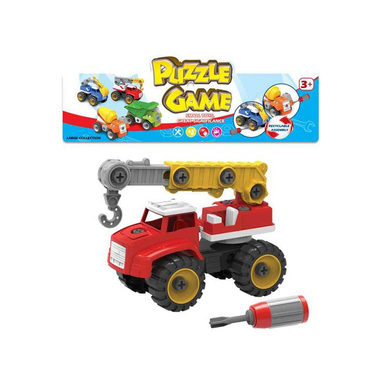Rotaļu smagā mašīna/ceļamkrāns-konstruktors