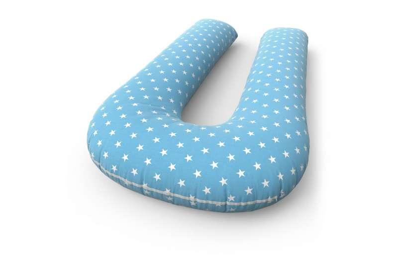 Подушка для беременных U + наволочка Stars  blue