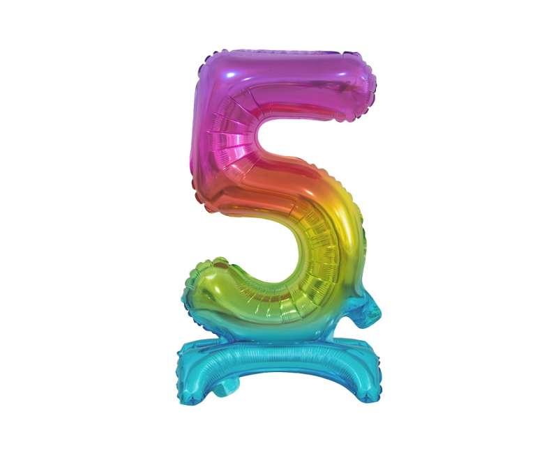 Folijas balons 38cm, Nr 5, varavīksnes