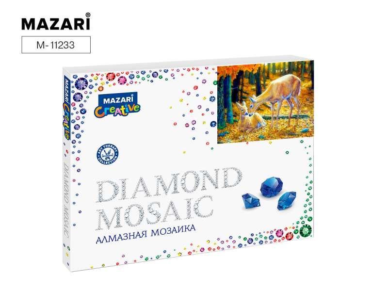 Алмазная мозаика МАЛЫШИ В ЛЕСУ, 40х50 см