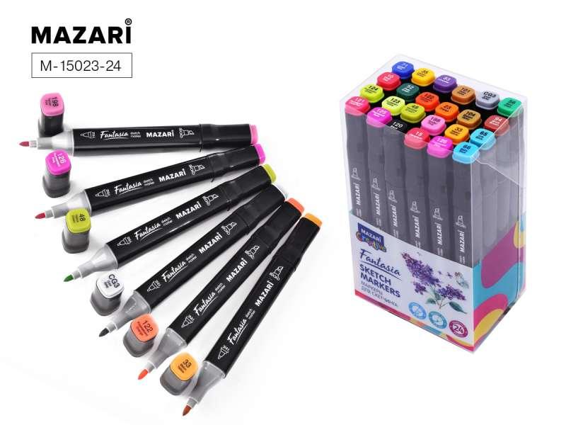 Набор маркеров для скетчинга двусторонние FANTASIA, 24цв., Main color