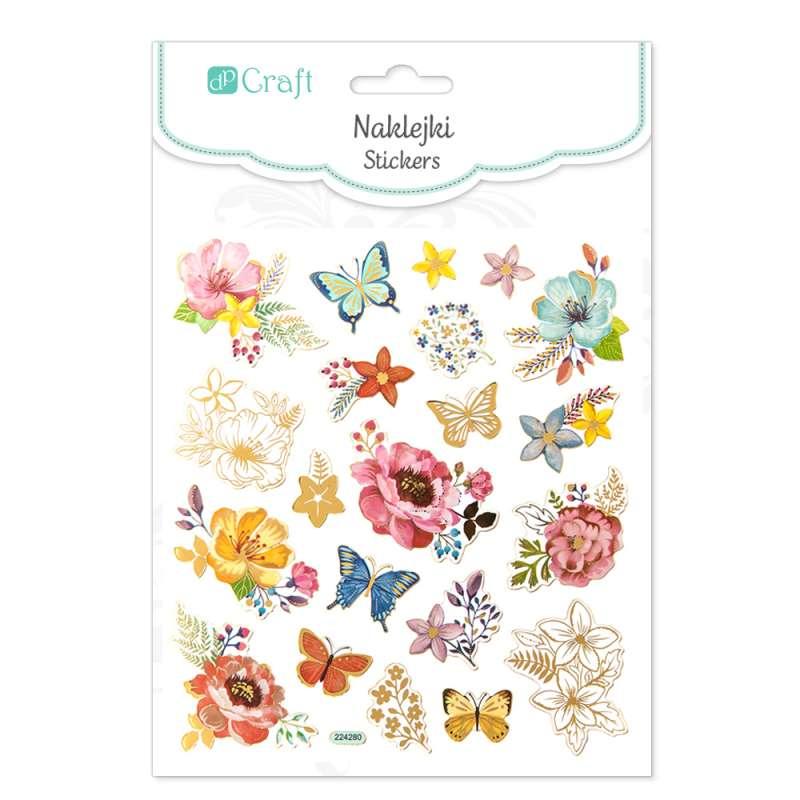Наклейки Crafty Цветы и Бабочки,21 gab