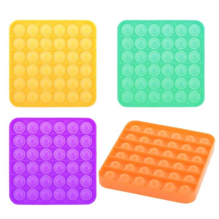 Игрушка-антистресс силиконовая POP-IT MIX (разные цвета), квадрат