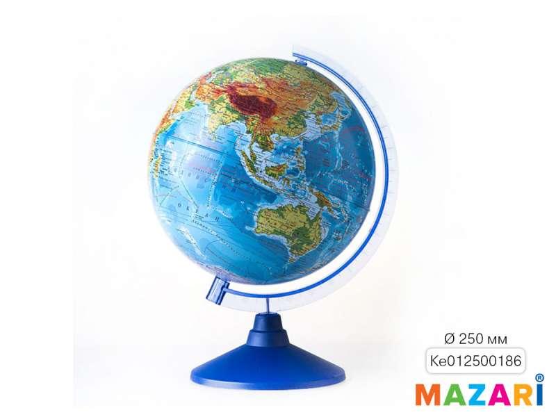 Глобус физический, d=250мм