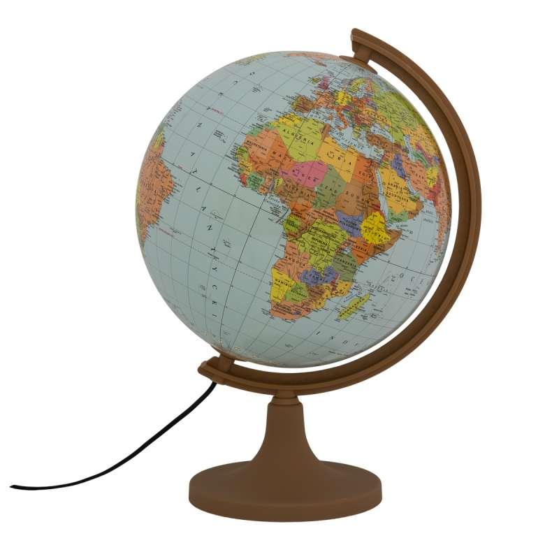 Globuss 320 mm ar apgaismojumu politiskais