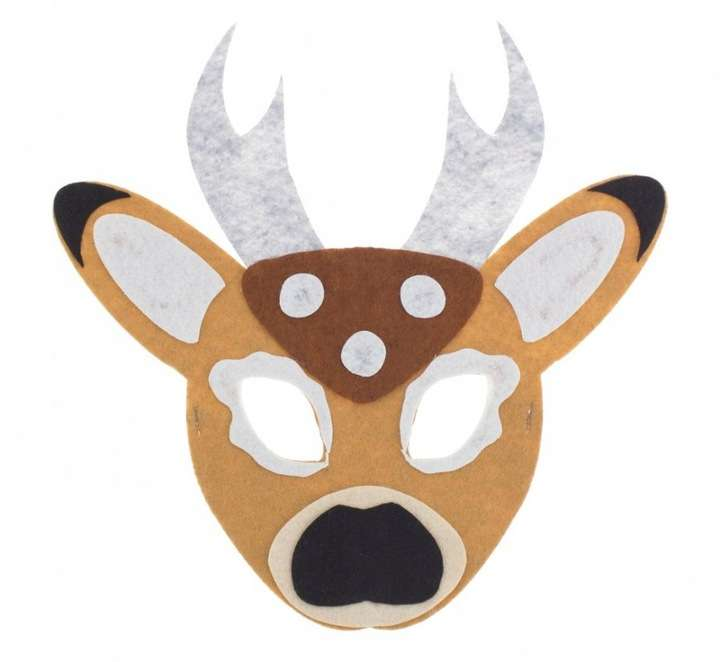 Filca maska Briedis 24x24cm
