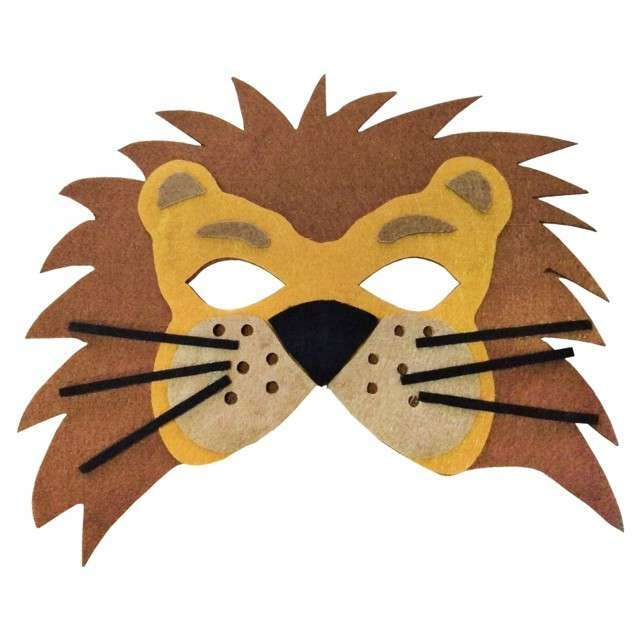 Karnevāla maska Lauva 19x17cm