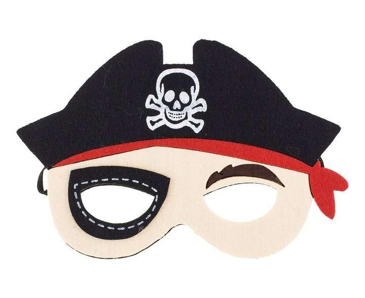 Карнавальная маска Пират 19.5x13см