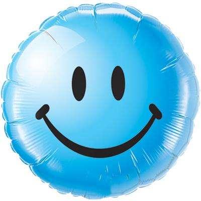 Folijas balons 18 Smile blue