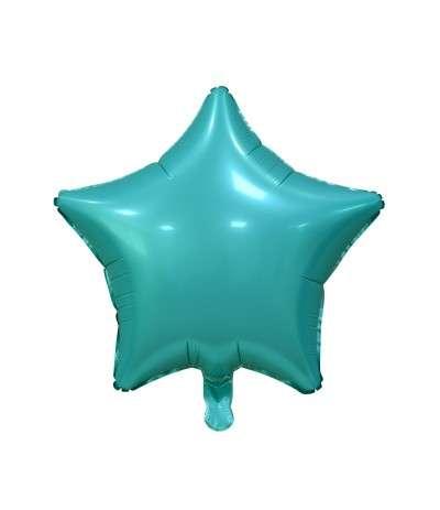 Фольгированный шар 19 Звезда морской зеленый, матовый