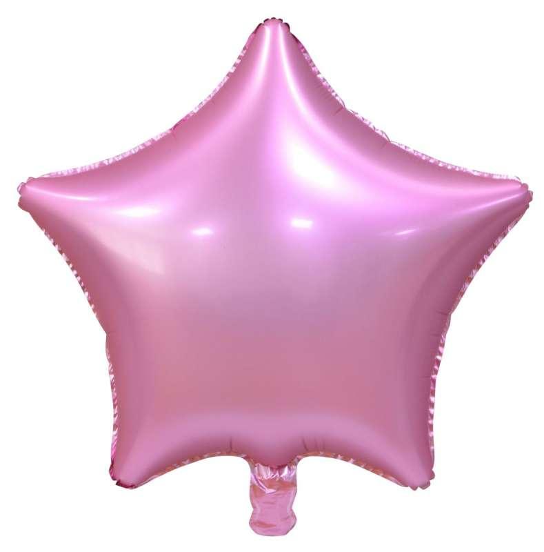 Фольгированный шар 19  Звезда розовый, матовый