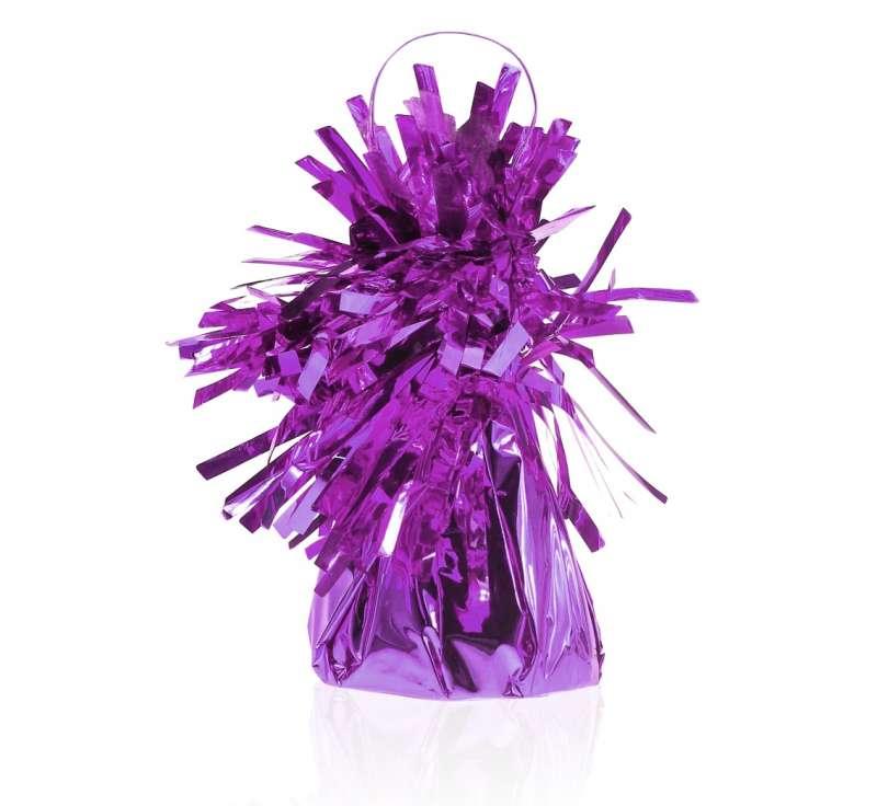 Грузики для букетов из шариков FOIL, 145гр фиолетовый 1шт.