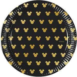 Papīra šķīvis  Mickey Gold 20cm, 8gb