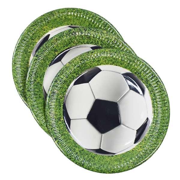 Бумажные тарелки Football 23см/8шт.