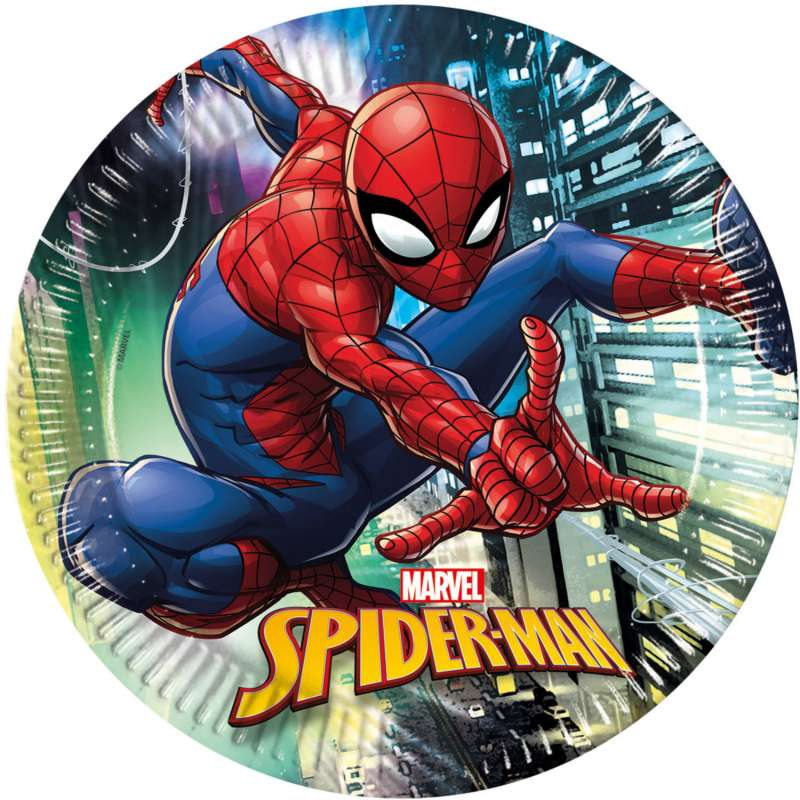 Бумажные тарелки Spiderman Teem 23см/8шт.
