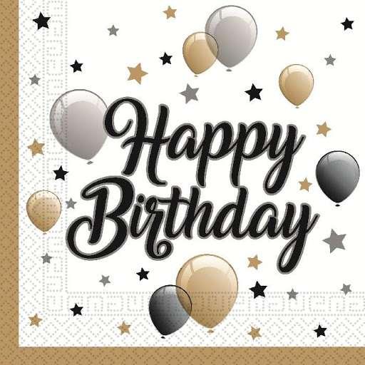Салфетки Ballons Happy Birthdey 33x33см, 20шт.