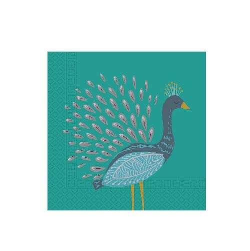 Salvetes Peacock 33x33cm, 20gb