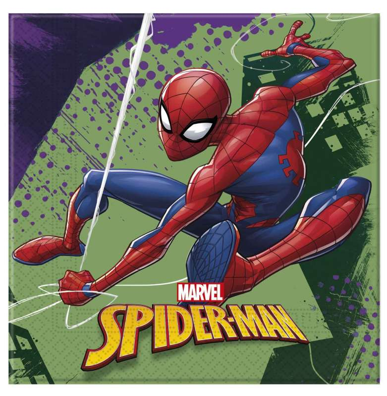 Salvetes Spidermen Team 33x33cm, 20gb