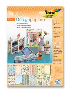 Блок дизайнерской бумаги A4 FOLIA Kids 12 стр Mix
