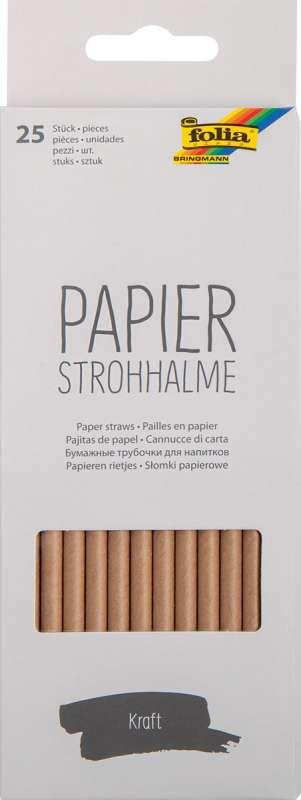 Papīra salmiņi FOLIA Craft paper,19,7cm 25 gab