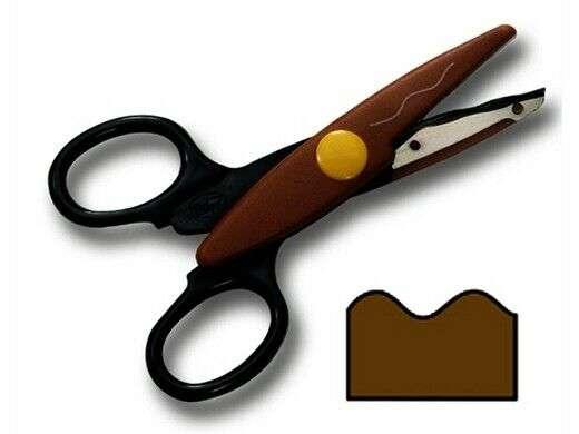 Ножницы FOLIA, коричневые