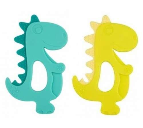 CANPOL BABIES  Прорезыватель-игрушка силиконовая для зубов Динозавр
