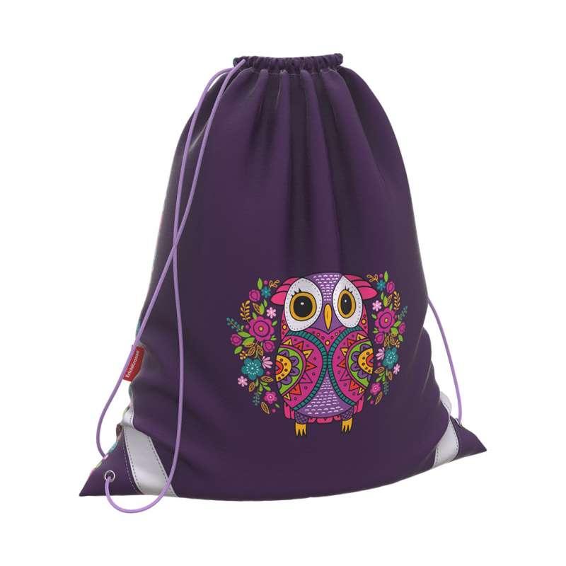 Мешок для обуви 365x440 ErichKrause  Flower Owl фиолетовый