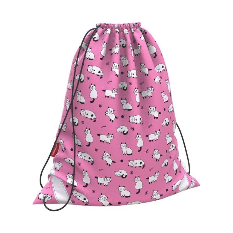 Мешок для обуви 365x440 ErichKrause Cats розовый
